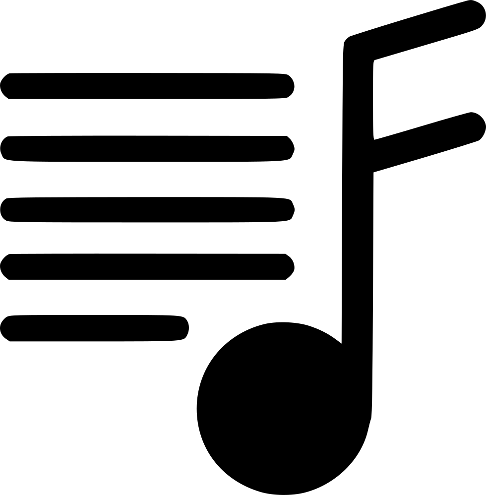 Note lines png. Music svg icon free