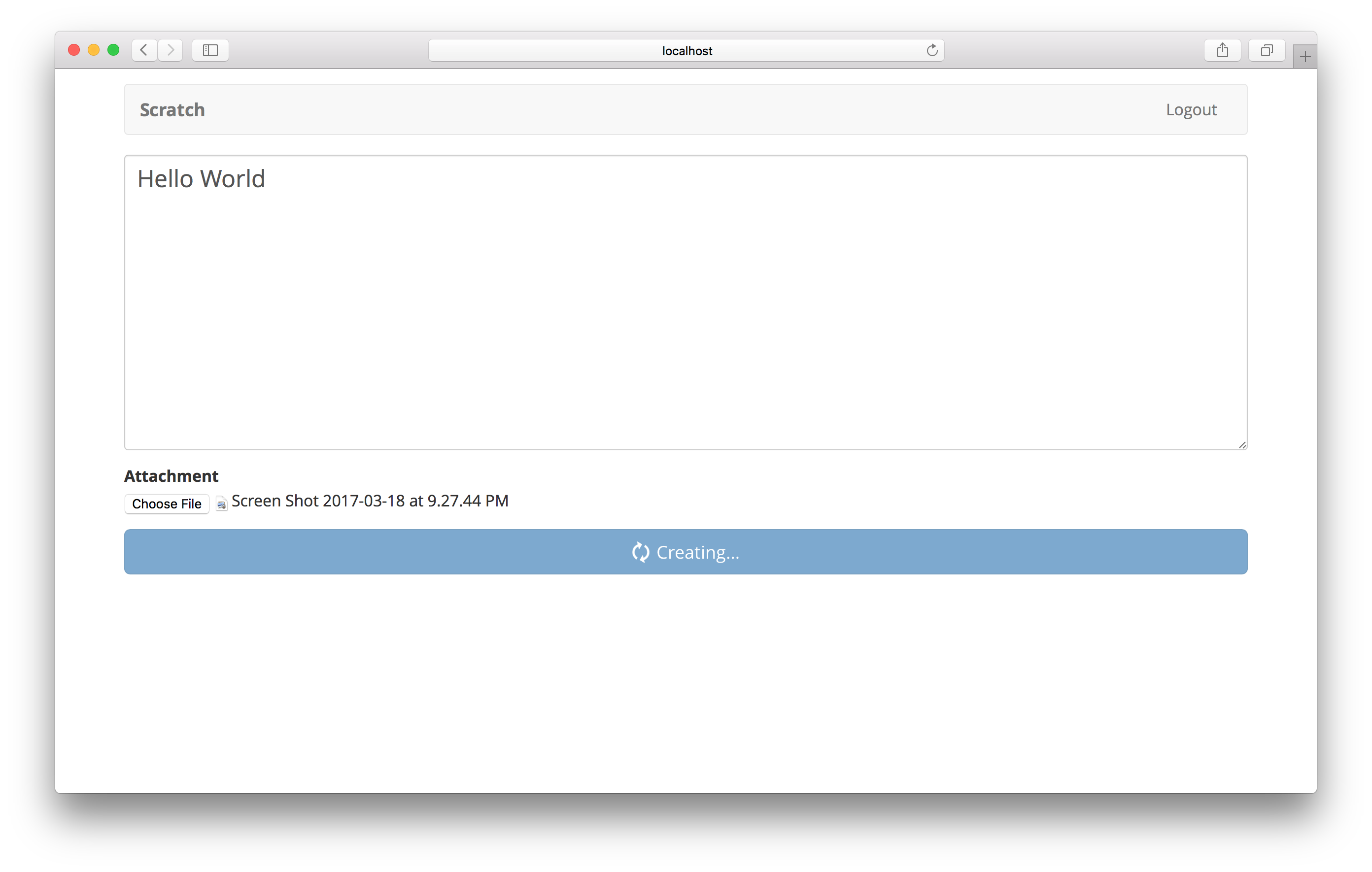 Note page png. Add the create serverless