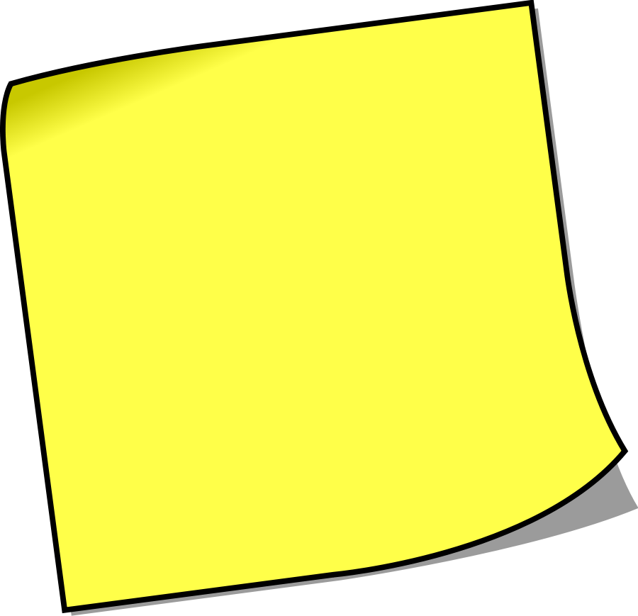 Note paper clipart png. Yellow sticky notes image
