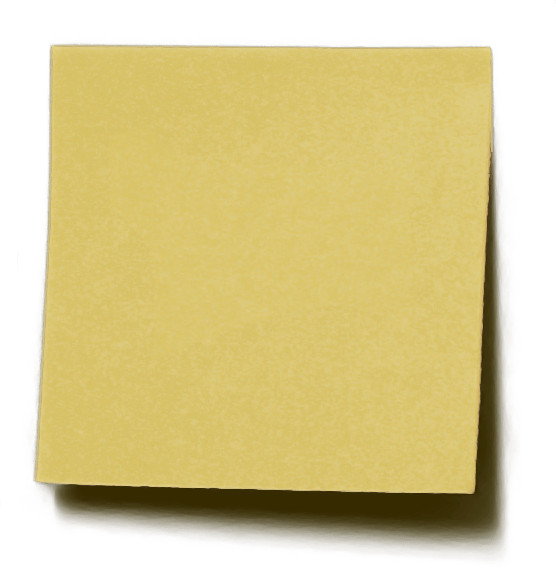 Note paper png. Recycled sticky transparent stickpng