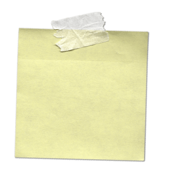 Tape transparent png. Sticky note with stickpng