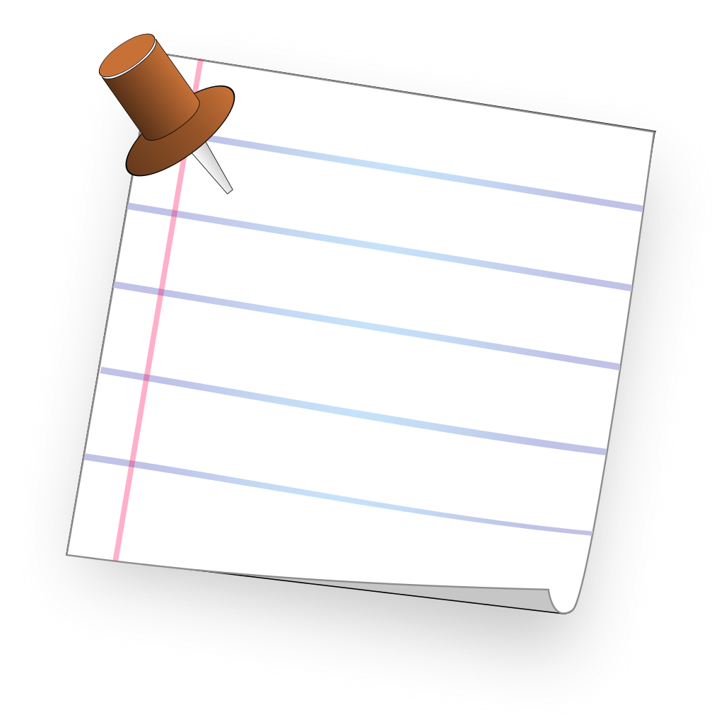 Transparent pin paper. File ruled note with