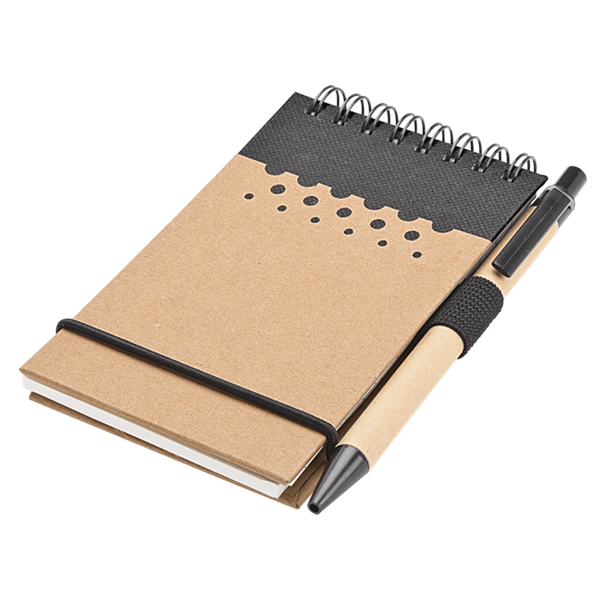 Notebook and pen png. Coloured stripe with blue