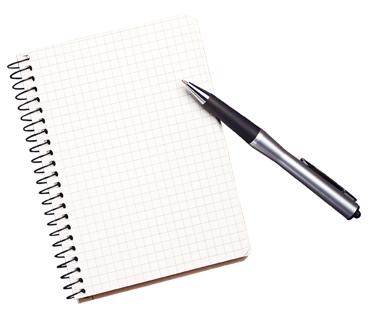 Notebook and pen png. B technology copywriting kell