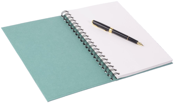 The query letter chrismcmullen. Notebook and pen png clip transparent stock