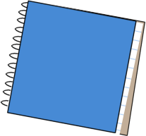Notebook clipart blue notebook. School clip art image