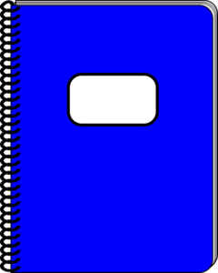 Notebook clipart blue notebook. Spiral clip art at