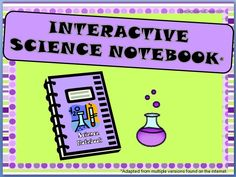 Notebook clipart interactive notebook. The ultimate science pack