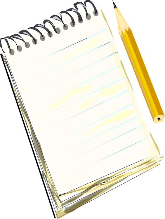 Notepad clipart diary pen. Technical drawing notebook pencil