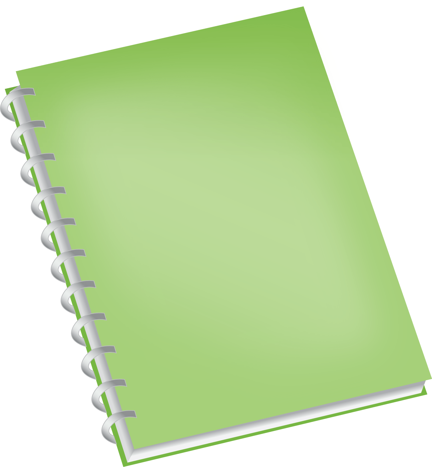 Notebook cover png. Green transparent stickpng objects