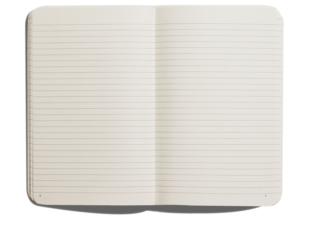 Notebook page png. Full focus a by