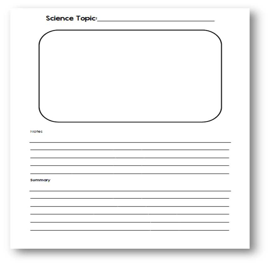 Notebook page png. Science homeschool story