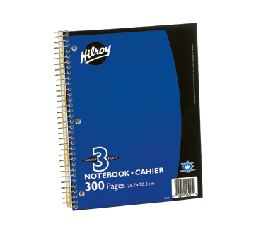 Notebook transparent wide ruled. Subject unit hilroy