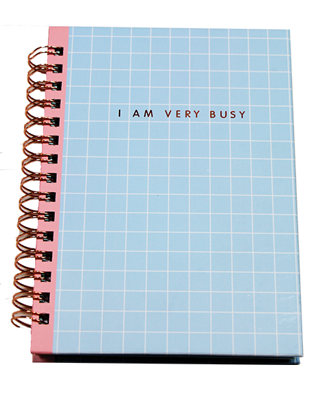Notebook transparent blue. Subject a the lucky