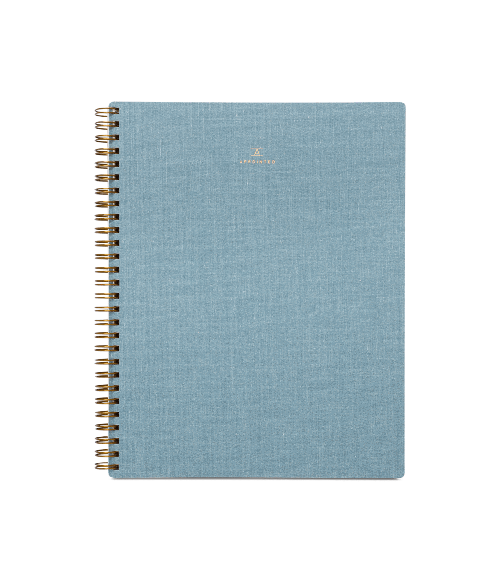 Notebook transparent dotted. Chambray blue appointed