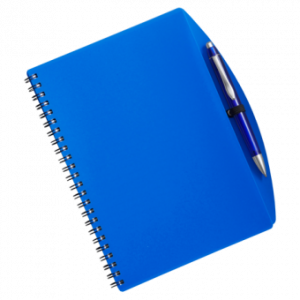 Notebook transparent blue. Png image without background