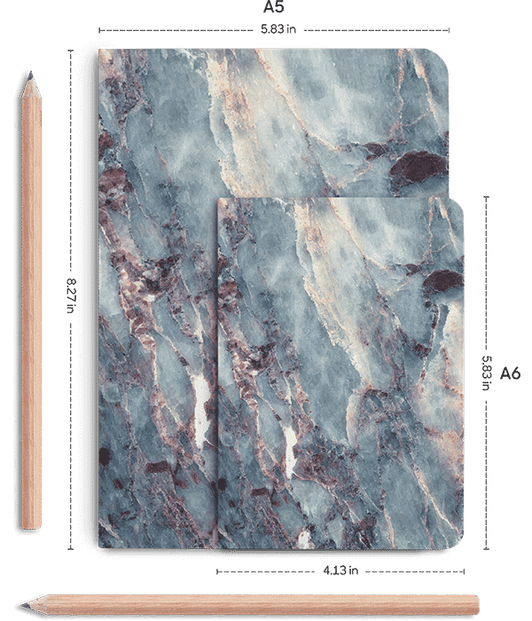 Notebook transparent marble. Dailyobjects art a plain