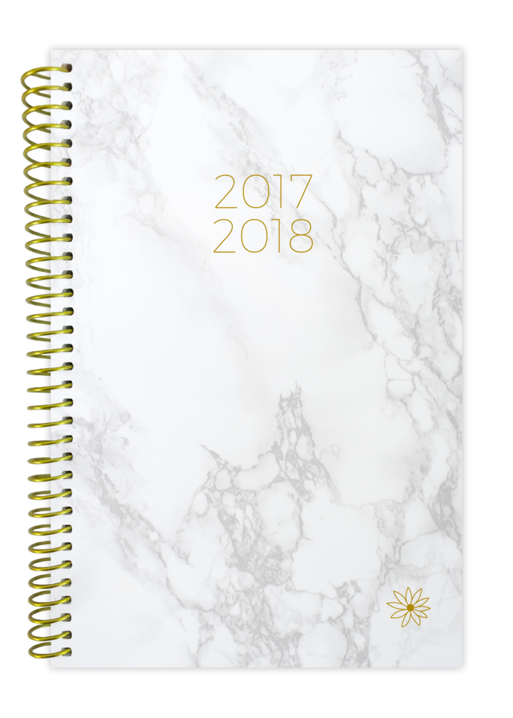 Notebook transparent marble. Bloom planners daily brands