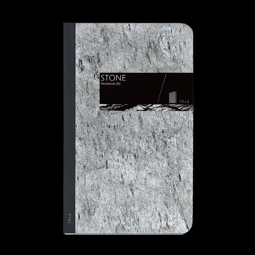 Notebook transparent marble. Stone blank page b