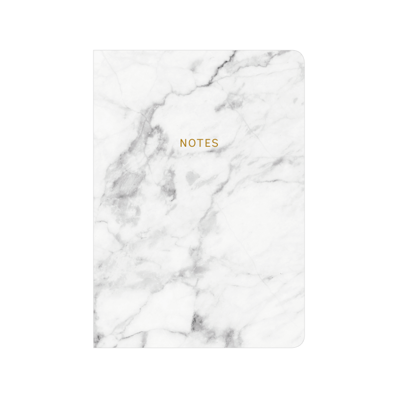 Notebook transparent marble. A love