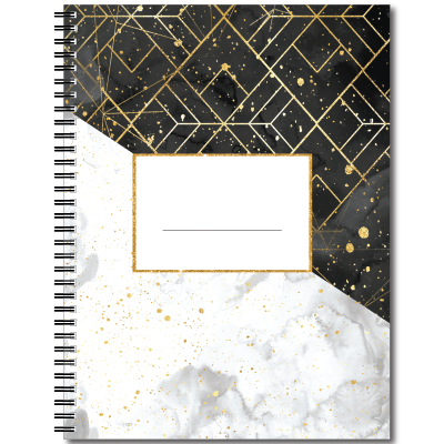 Notebook transparent marble. Amazon com elegant personalized