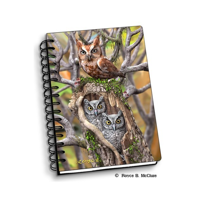 Notebook transparent marble. Artgame d owls