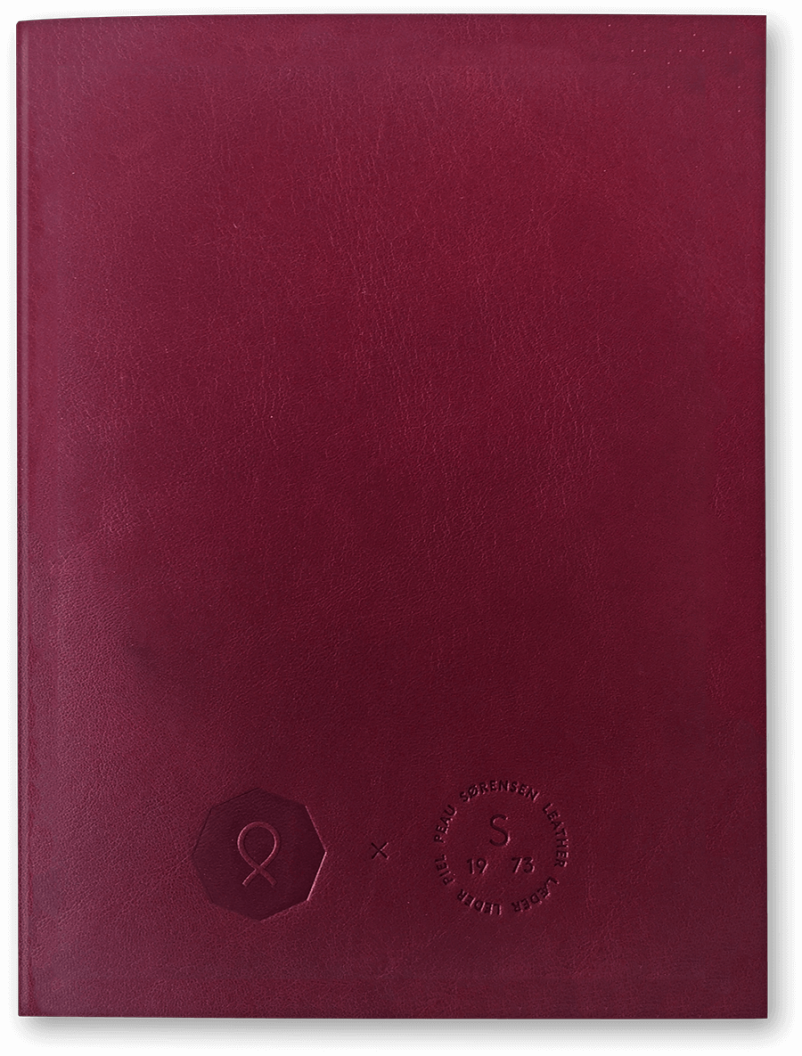 Notebook transparent red. The last burgundy paper