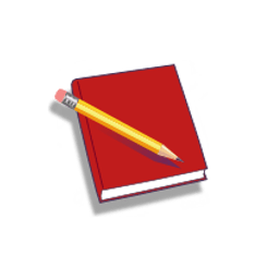 Notebook transparent red. Install the diary software