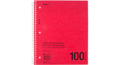 Notebook transparent red. Shape it up college