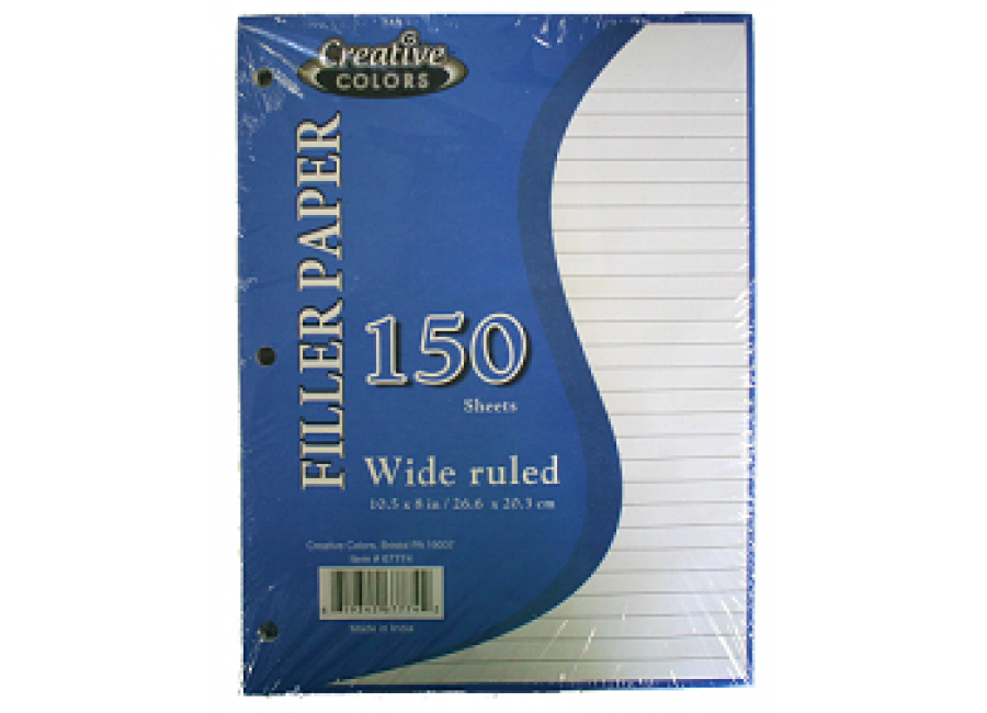 Notebook transparent wide ruled. Paper each
