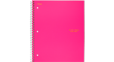 Notebook transparent wide ruled. Trend wirebound subject five