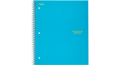Notebook transparent wide ruled. Trend wirebound subject c