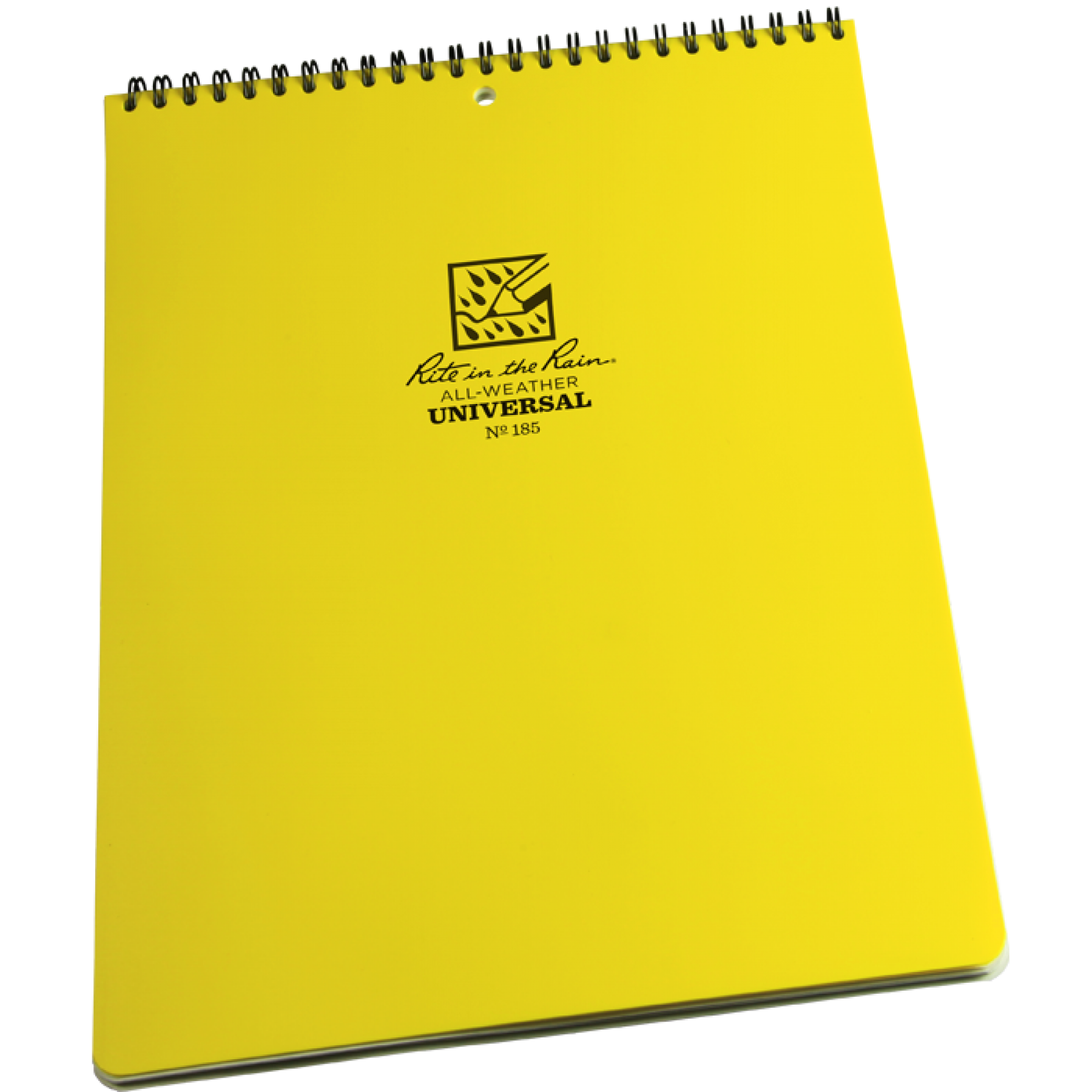 Notebook transparent yellow. Rite in the rain