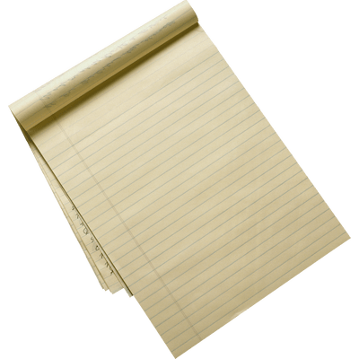 Notepad transp png. Transparent stickpng recycled lined