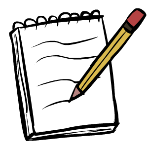 Notepad transparent drawing. Clipart for free download