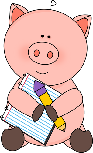 Pig clipart couple. Free cute notepad cliparts