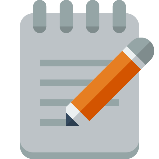 Notepad icon png. Small n flat by