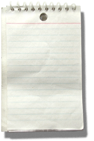 Notepad transparent png. Writers block roughly translated