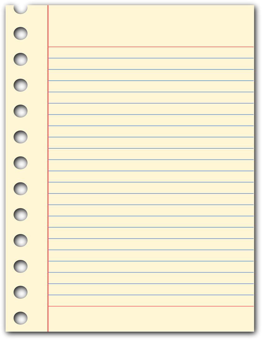 Notepad transparent png. Page education supplies paper