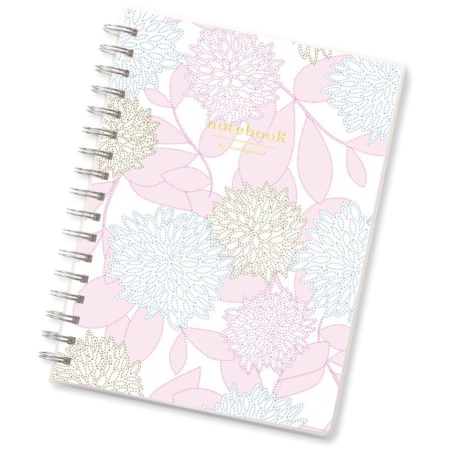 Notepad with notes png. Spiral bound notebook for