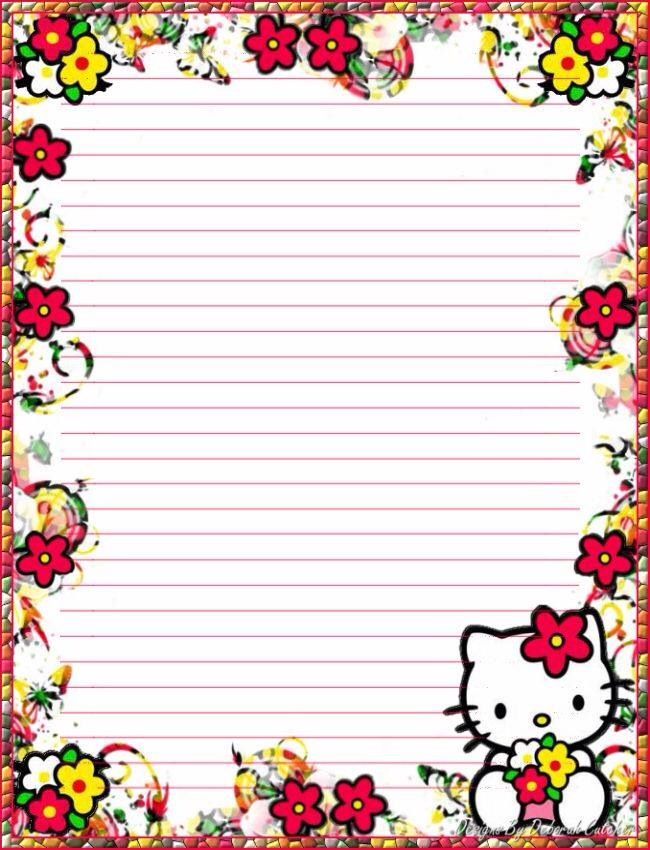 Notes clipart bond paper. Best hello kitty