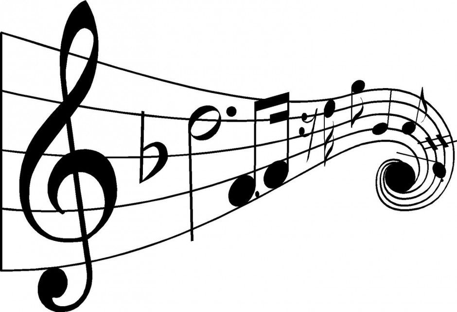 Notes clipart math note. Black and white music