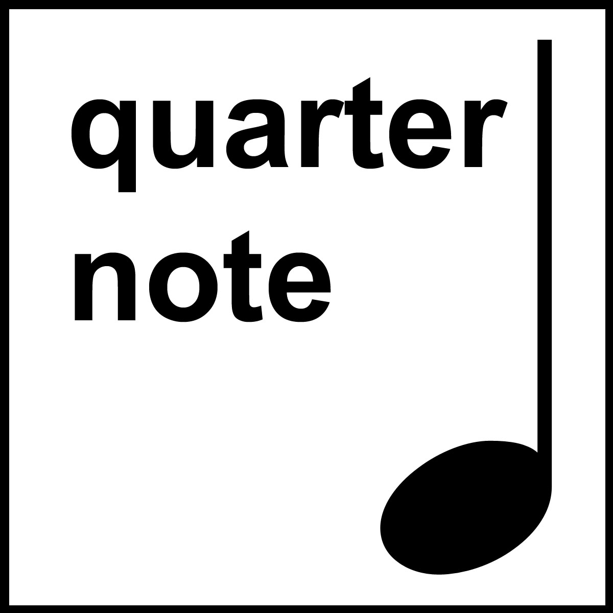 Notes clipart math note. Durations and music httpwwwabcteachcomfreeqquarternotebw
