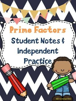 Notes clipart math note. Prime factors student independent