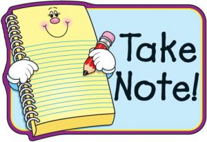 notes clipart math note