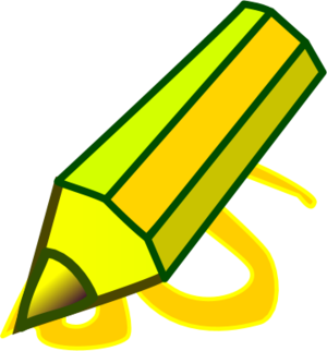 Post it clipart written note. Pencil write notes vector