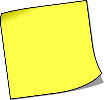 Notes clipart piece paper. Blank sticky note clip