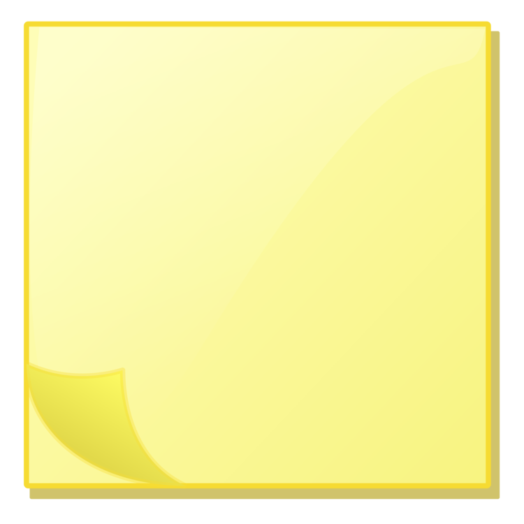 Yellow clipart post it. Note paper sticky notes