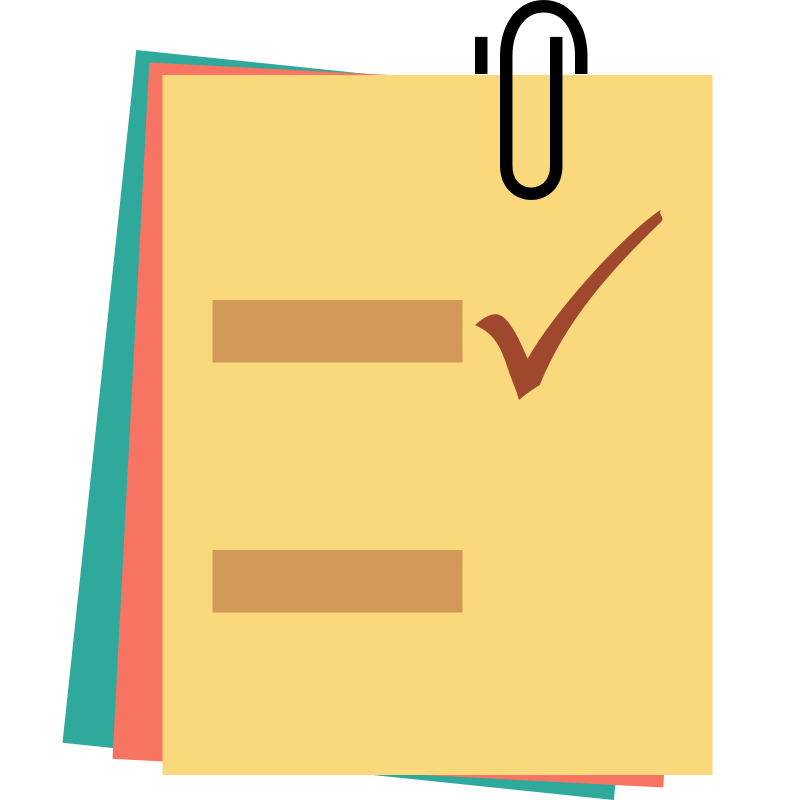 Notes clipart png. Checklist note the cliparts