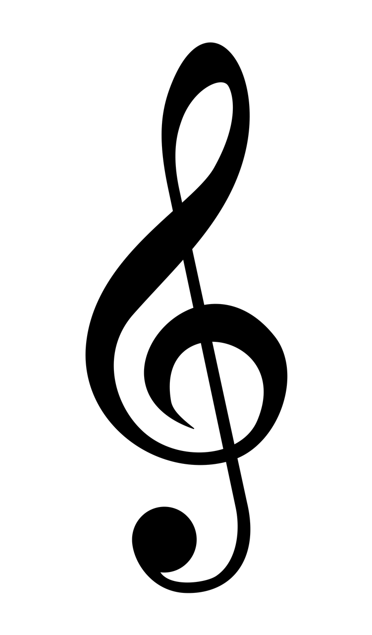 Notes of the bass clef png. Treble no background april